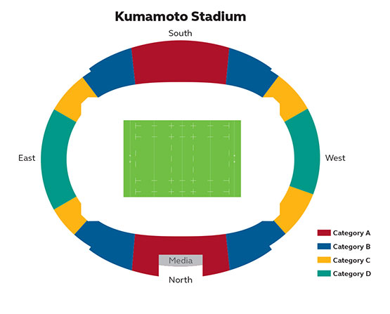 Stade Kumamoto - Couleur Voyages - Coupe du Monde Rugby Japon 2019