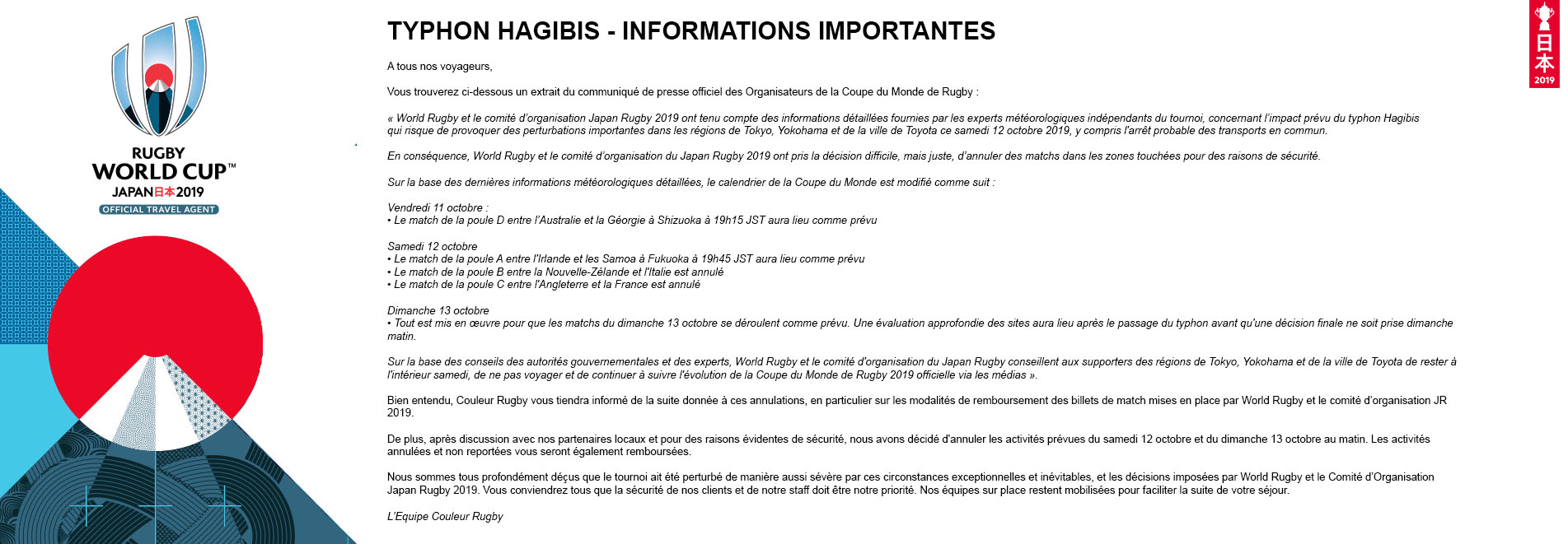 Informations importantes Typhon